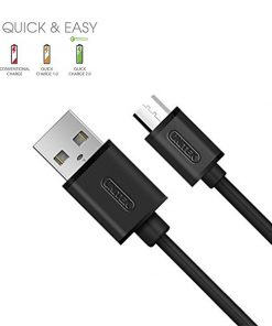 Unitek Pack Of 3 Premium Micro USB Cable High Speed 2.0 A Male to Micro B Sync Charging Cables - Black