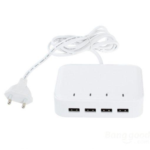 Universal 4 USB Ports PowerCharger - White