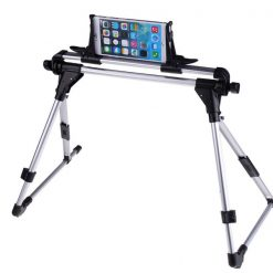 Universal Foldable Metal Stand for Tablets and Smartphones - Silver