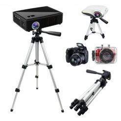 Universal Tripod Stand For Projectors and Camcorders - Silver