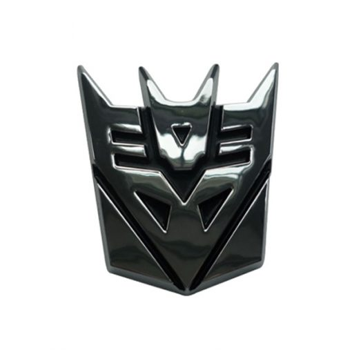 Transformer Decepticons Solid Metal Steel Emblem