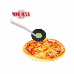 Vinyl Pizza Cutter Wheel With Silicone Handle Slice Record Player Pizza Cutter For Pizza Pies - Green