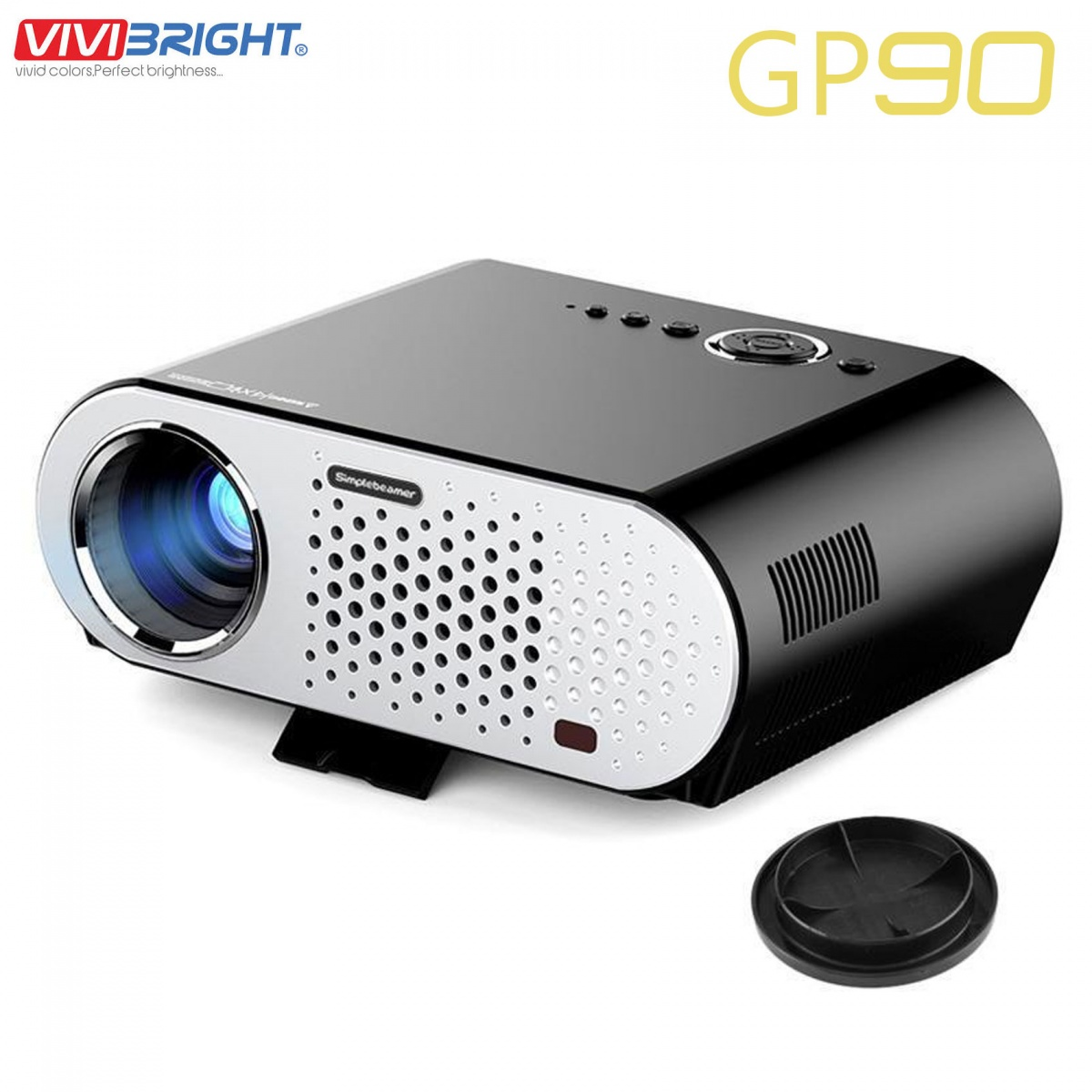 Vivibright GP90 3200 Lumen HD Projector - Black