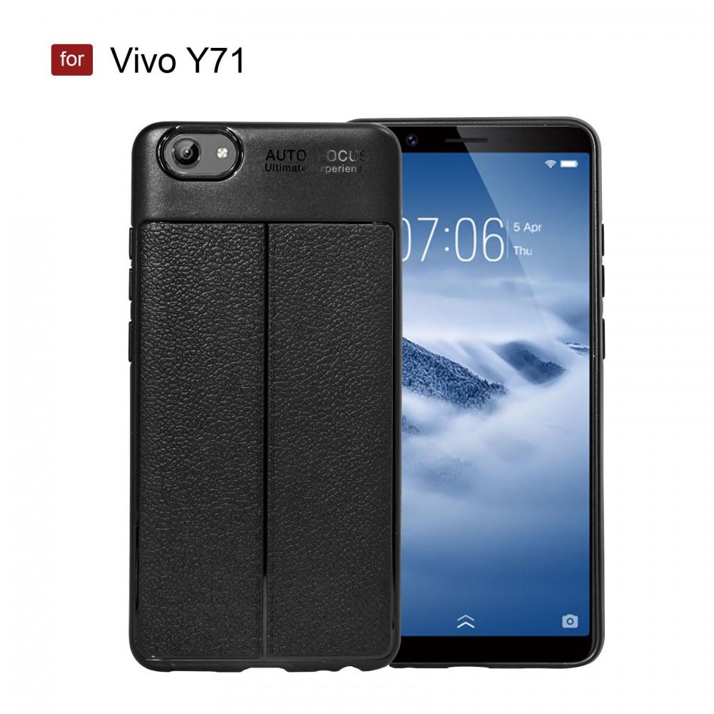 Vivo Y71 Autofocus Silicon Back Cover Case - Black - LatestGadget
