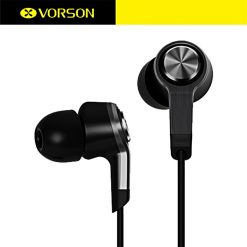VORSON VIM-6011S Stereo Sound Earphones With Mic - Gray