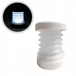 White Led Compact Compressable Lantern - White