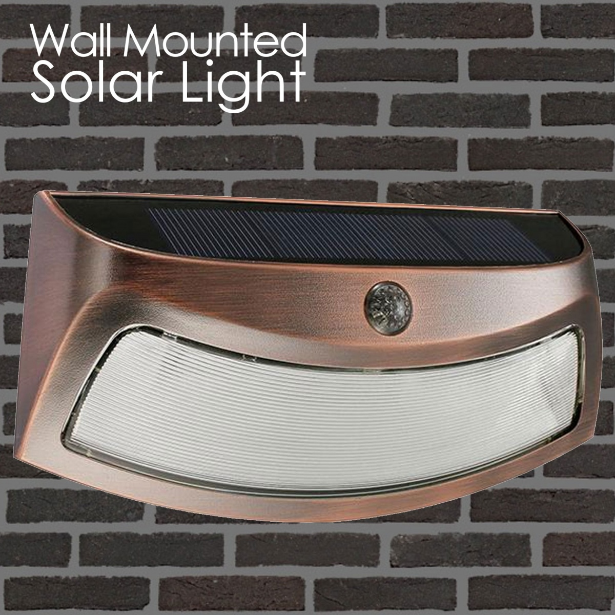 Wall Mounted Solar Smile Light With Motion Sensor - Brown