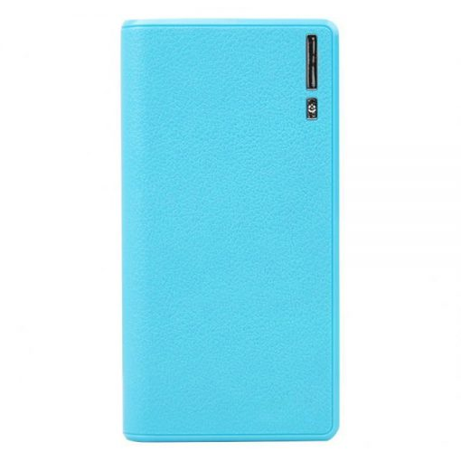 Wallet Style Power Bank 20000mah With Dual USB LED Lighting Power - Blue