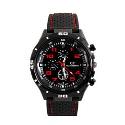 Water Resistant Grand Touring Racing Sport Watch - Red