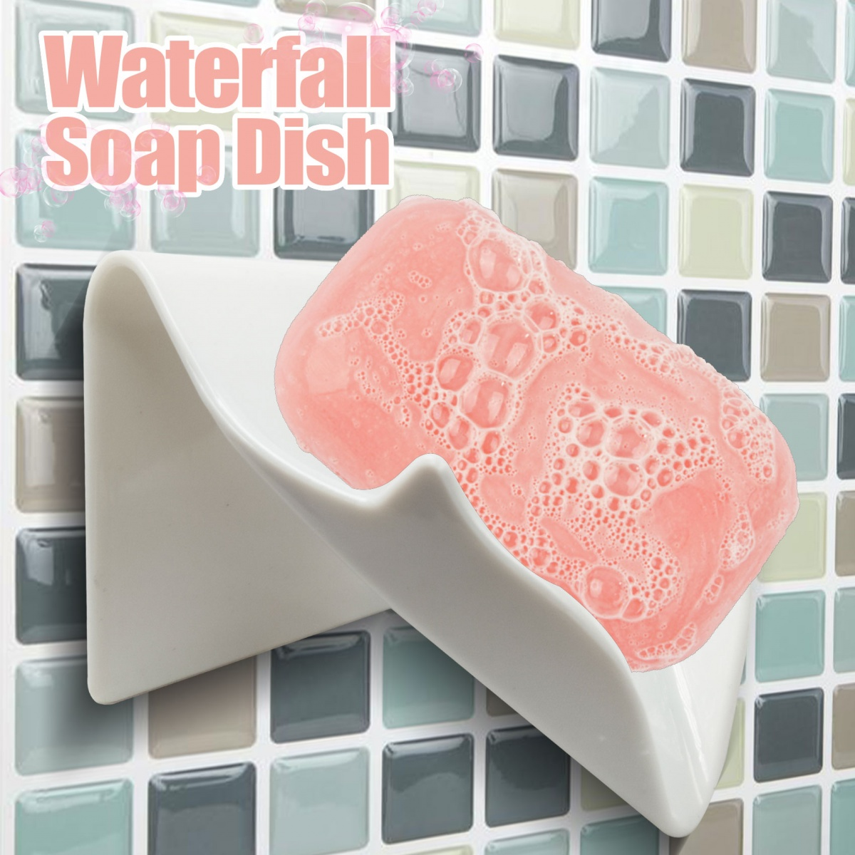 Waterfall Soap Dish - White