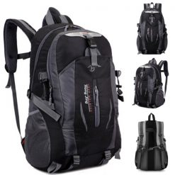 Waterproof Outdoor Travel Shoulder Bag - Black