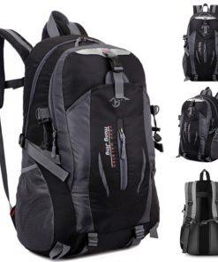Waterproof Outdoor Travel Shoulder Bag - Black