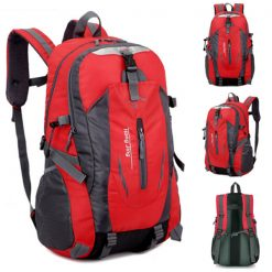 Waterproof Outdoor Travel Shoulder Bag - Red