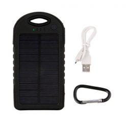 Waterproof Solar Charge 5000 MAH  Powerbank – Black