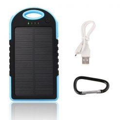 Waterproof Solar Charge 5000 MAH  Powerbankk – Blue