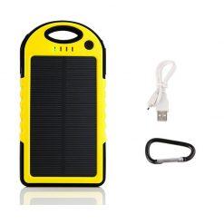 Waterproof Solar Charge 5000 MAH  Powerbank – Yellow