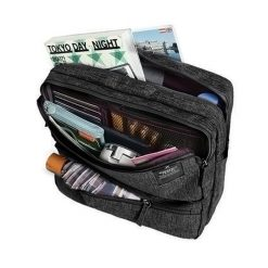Travel Weekeight Messenger Bag - Black