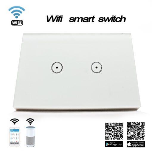 Wifi Smart Wall Switch 2 Gang - White