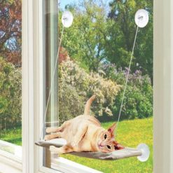 Window Mounted Cat Bed - Brown