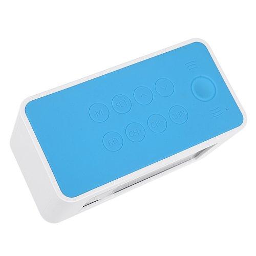 Wireless Inductive Speaker Sound Box With FM Radio Digital Alarm Clock