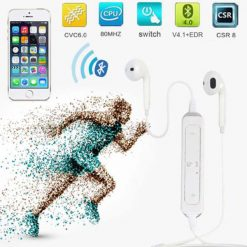 Wireless Sports Bluetooth Headset - White