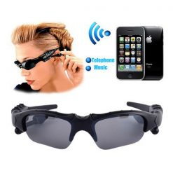 Wireless Bluetooth MP3 Sunglasses - Black