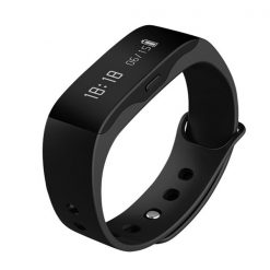 Wireless Bluetooth Smart Fitness Wristband Watch - Black