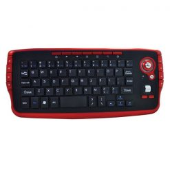 Wireless Keyboard with Track Ball - Black/Red