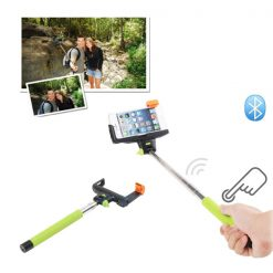 Wireless Monopod With Build In Bluetooth Shutter for IOS and Android - Green