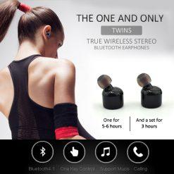 X1T True Wireless Bluetooth Twin Stereo Earphone - Black