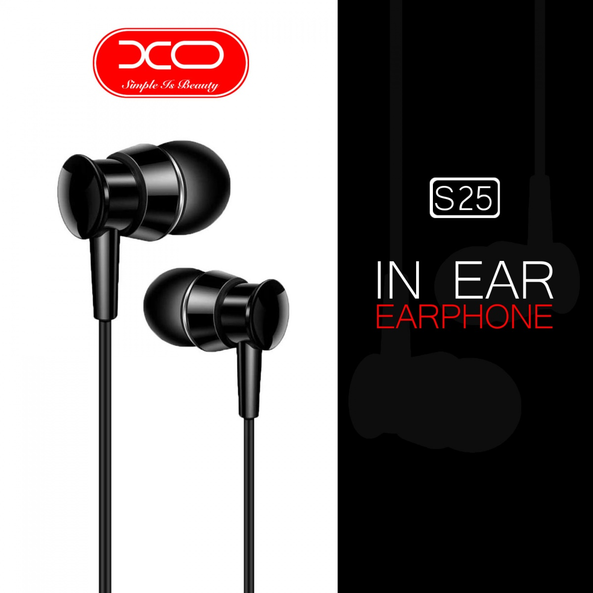 XO S25 Wired Earphone - Black