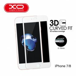 XO 0.15mm Premium Soft Edge Tempered Glass Protector for iPhone 7/8 – White