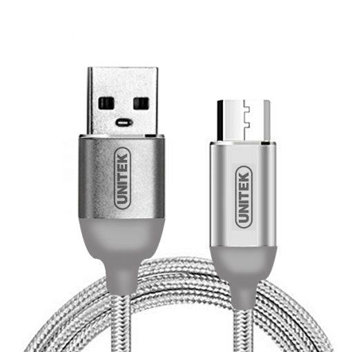 Unitek 1 Meter Micro USB Data Charging Cable - Gray