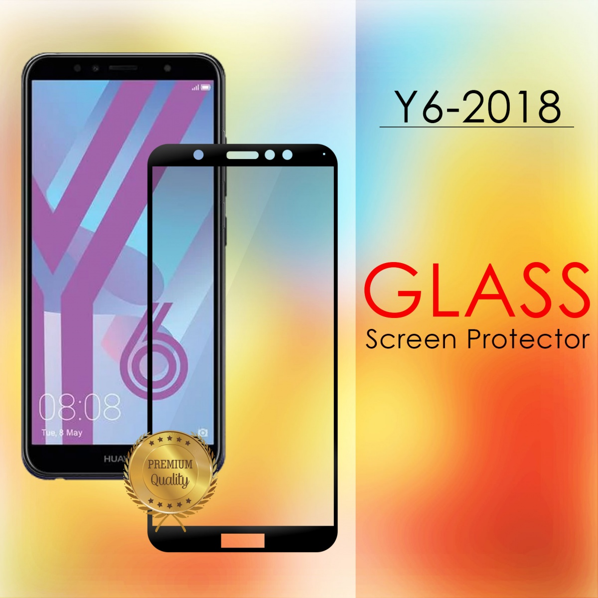 Huawei Y6 2018 Full Screen Temper Glass