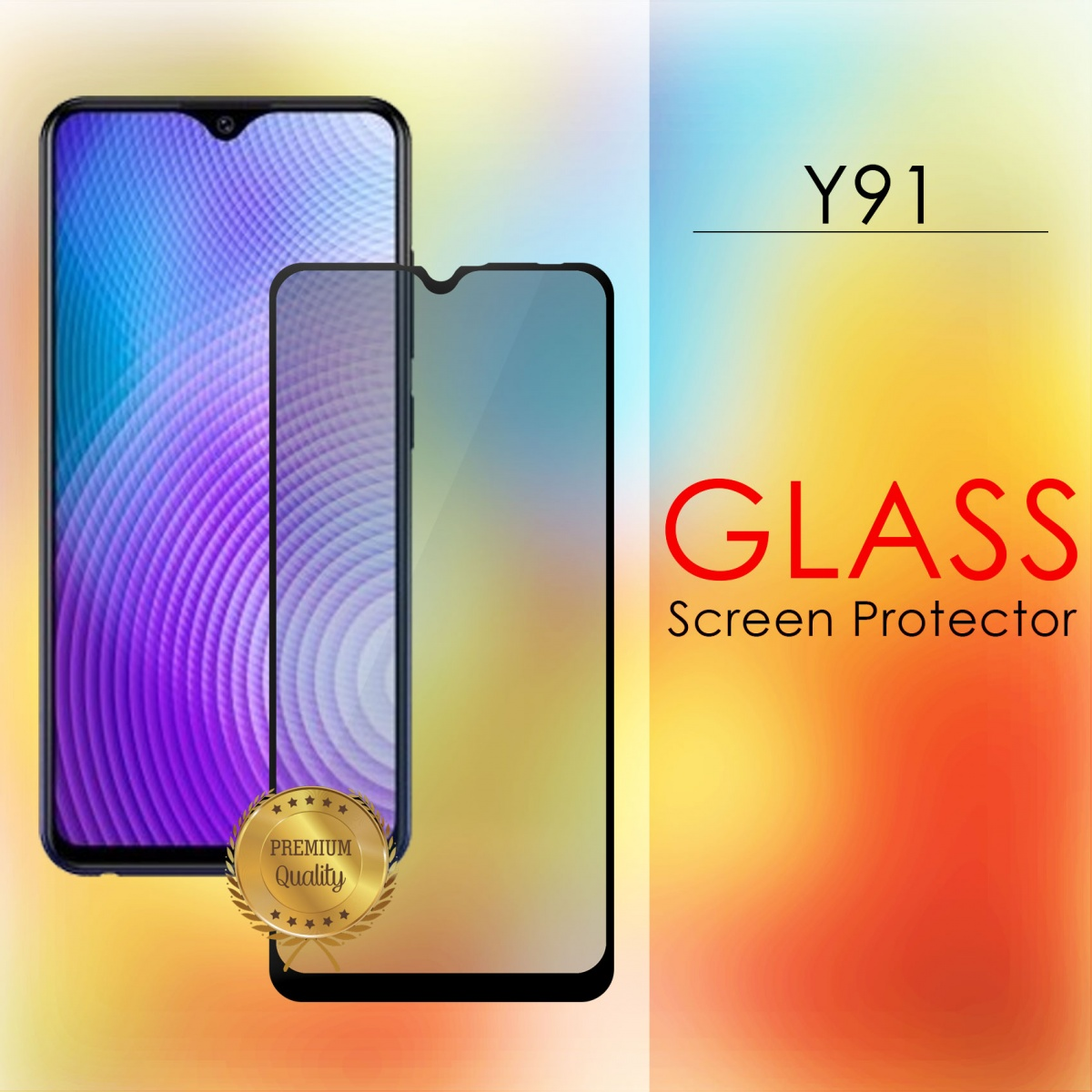 Vivo Y91 Full Screen Temper Glass