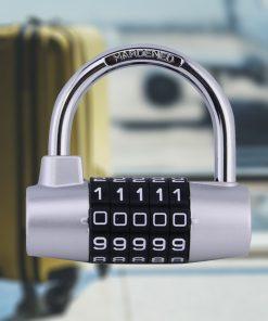 YF20621 5 Digits Combination Pad Lock - Silver