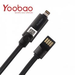 YOOBAO 407 Lightning And Micro USB Data Charging Cable - Black