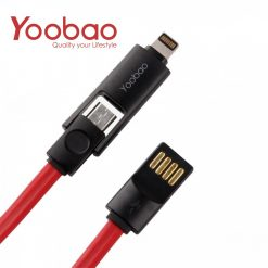 YOOBAO 407 Lightning and Micro USB Data Charging Cable - Red / Black
