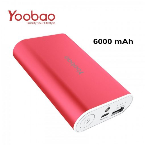 YOOBAO Intelligent Power Bank S3 6000mAh Portable Charger - Red