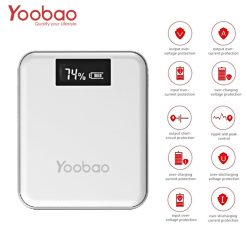Yoobao M4+ 10000 mah 4 USB Output Port 1 Micro USB 1 Lightning Charging Input Port With LCD Indicator