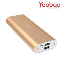 Yoobao Power Bank SP2 10000mAh Charger Dual USB Port - Gold