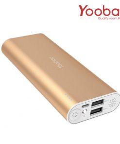 Yoobao Power Bank SP2 10000mAh Charger Dual USB Port - Gold