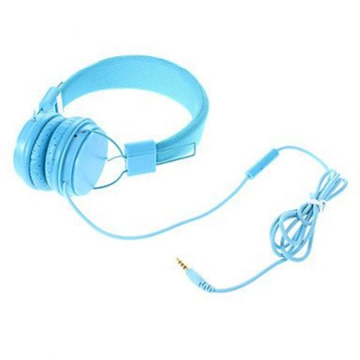 YongLe EP05 Fashionable 3.5mm Headphones with Microphone - Blue
