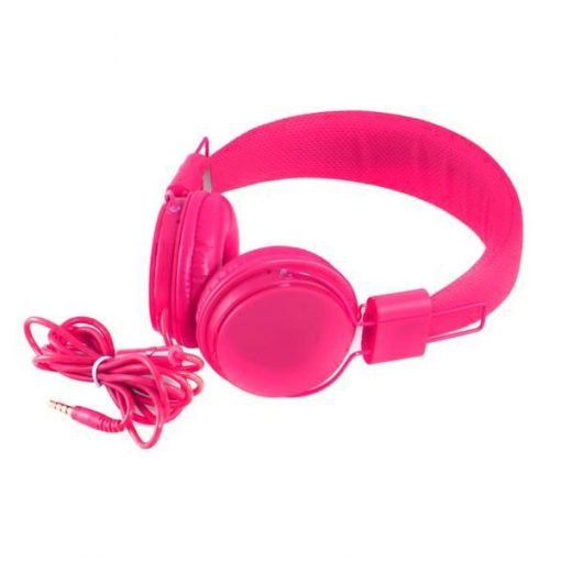YongLe EP05 Fashionable 3.5mm Headphones with Microphone - Pink