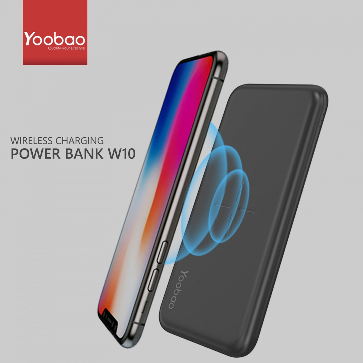 Yoobao W10 Wireless Power Bank - Black