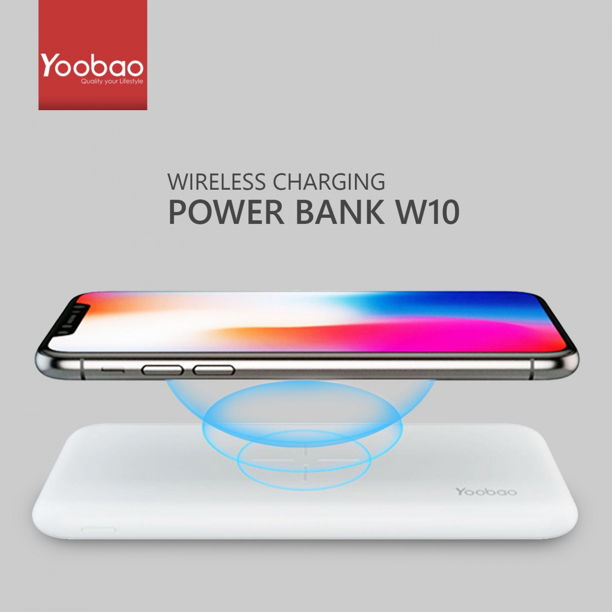 Yoobao W10 Wireless Power Bank - White