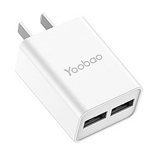 YOOBAO Y-722 Intelligent 2 Port USB Charger - White