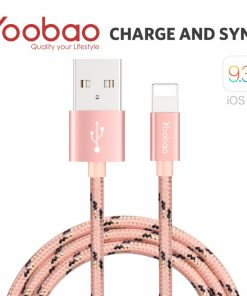 Yoobao 1.5 Meter Lightning Charging Sync Cable - Pink