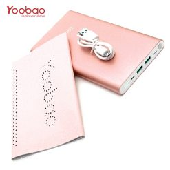 Yoobao 20,000mah Slim Polymer Powerbank With Micro And Lighning Input Port - Pink