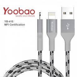 Yoobao Lightning Nylon Weaving Charging Sync USB Cable With MFI Certification - Gray